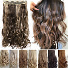 One Piece THICK 100% Real Natural Clip in as Human Hair Extensions Full Head HYT