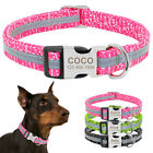 Print Nylon Personalised Dog Collar with Adjustable Engraved Nameplate Buckle