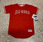 Los Angeles Angels Majestic Youth Cool Base Jersey New With Tags