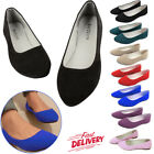 Ballerina Ballet Women's Dolly Pumps Slip On Ladies Flat Boat Loafers Shoes...