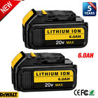 Kyпить For DeWalt 20V 20 Volt Max XR 6.0AH Lithium Ion Battery DCB206-2 DCB205-2 DCB200 на еВаy.соm