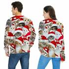Christmas Ugly Sweatshirt Casual Sweater Holiday Pullover Party Top Couple Shirt