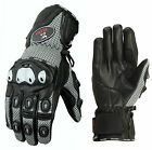 ISLERO All Weather Summer Winter Leather Motorbike Motorcycle Gloves Knuckle