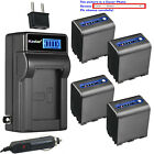 Kastar Battery LCD AC Charger for Sony NP-QM91D QM91D & Sony HDR-HC1 HDR-SR1