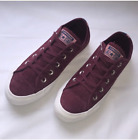 New Converse CTAS OX Leather Sneakers Dark Burgundy Egret Size 6 6.5 7 7.5 8