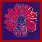"36W""x36H"" DAISY, c. 1982 (BLUE and RED) by ANDY WARHOL - CHOICES of CANVAS"