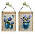 Blue Hydrangea Daisy Pictures Flowers Plants Vases Floral Wall Hangings Plaques