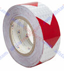 Red Arrow Reflective Tape, 2' Hazard Warning Tape Reflective Conspicuity Safety