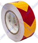 "Внешний вид - Yellow Red Arrow Reflective Tape 2"" Hazard Warning Reflective Conspicuity Safety"