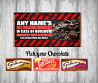 Personalised Chocolate Bar - Self isolation - Get Well Soon - Fun gift
