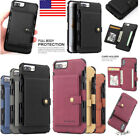 Shockproof Magnetic Leather Wallet Flip Case Card Slot Cover For Iphone X 6 7 8