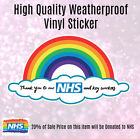 20% To Nhs - Thank You Nhs Rainbow Window Door Sticker Key Workers Covid R259