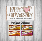 Personalised Chocolate Bar - Happy Anniversary - Partner Gift - Loved one