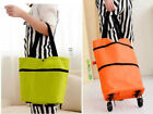 Shopping Cart Pull Carts Portable Folding Bag Small Trailer Trolley Mute Wheel