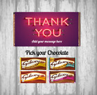 Personalised Chocolate Bar - Thank You - Good Neighbour friend Family - Wrapper