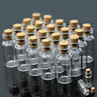 50pcs Mini Small Glass Bottles with Cork Stopper Tiny Vials Wish Jars Containers