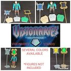 Visionaries Knights of the Magical Light vintage action figure stands display
