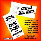 RAFFLE TICKETS - Custom Printed, Numbered & Perforated Card Stock