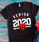 Senior Class of 2020 Quarantined Black Unisex Short Sleeve T-shirt image