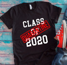 Class of 2020 Quarantine Black Unisex Short Sleeve T-shirt  image