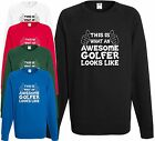 Awesome Golfer Sweatshirt Jumper Day Gift Xmas Present Cool Birthday Funny H