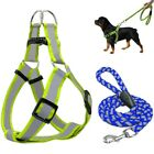 Step-in Dog Harness Walking Leash KitsNo Pulling Reflective Nylon Dog Vest Leads