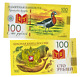 Banknote 100 rubles Red-breasted goose. Red List of Threatened Species. Red book photo