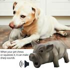 Pet Pig Toy Grunting Squeaky Rubber Pet Puppy Chew Squeaker Sound Dog.