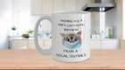 Cat Lover Themed Gift for Women Mom Friend Dad Happy Birthday Funny Coffee Mug