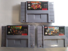 Donkey Kong Country 1 + 2 + 3 SNES Super Nintendo Games - TESTED FAST SHIPPING!