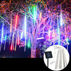 30cm 8 Tube 144 LEDs Solar Meteor Shower Rain Drop Icicle Lights Garden Wedding