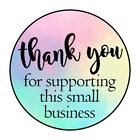 THANK YOU SUPPORTING BUSINESS STICKER LABEL ENVELOPE SEAL 1.2' OR 1.5' ROUND