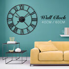 Large Outdoor Garden Wall Clock Metal Roman Numeral 40 60CM Round Face  P