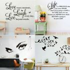Home Room Decor Art Quote Wall Decal Stickers Bedroom Removable Mural Diy Decor