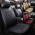 5-Seats Car Seat Cover PU Leather Front+Rear Cushion Mat All Season Universal FS $79.98 USD on eBay