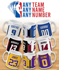 PERSONALISED CUSTOM NBA BASKETBALL JERSEY MUG - TEA COFFEE GIFT XMAS on eBay
