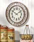 Live Laugh Love Sentiment Wall Clock Family Faith Friends Scrolled Metal Clock