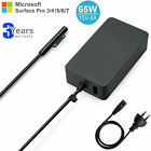 For Microsoft Surface Pro 7 3 4 5 6 Power Adapter 65w/44w/36w Laptop Charger