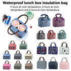 Portable Waterproof Lunch Bag Thermal Insulated Zipper Patch Cooler Bento Tote