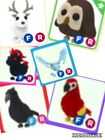 **ADOPT ME pets roblox**FREE with logo purchase- (Frost,crow,parrot,evl uni,owl)
