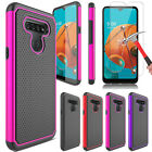 For Lg K51/reflect Hybrid Rugged Slim Phone Case Cover / Glass Screen Protector