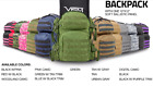VISM Tactical Backpack w/ Ballistic Plate Soft Panel 10x12 Level IIIA Rectangle