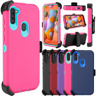 For Samsung Galaxy A11 / A21 Case Shockproof Belt Clip Holster Stand Armor Cover