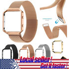 For Fitbit Blaze Watch Replacement Metal Milanese Loop Strap Wrist Band +Frame x image