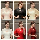 Bridal Floral Lace Shawl Wrap Cape Cover Banquet Tippet Stoles Wedding Tulle Top