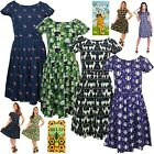 Run & Fly Indie Retro Vintage 50's Style Tea Dress Badger Panda Flamingo Llama