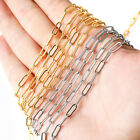 Stainless Steel Gold Steel Tone Cable Link Chain Fit DIY Necklace Jewelry Making