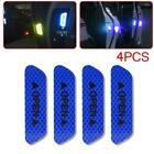4pcs Super Blue Car Door Open Sticker Reflective Tape Safety Warning Decal J4c1