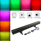 1-8Pcs RGBWA 5IN1/RGB 3IN1 Wall Washer Bar Linear Light DMX Color Mixing Party