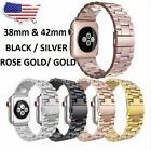 For Apple Watch Series 5/4/3/2/1 Stainless Steel Wrist iWatch Band Strap 38/44mm image